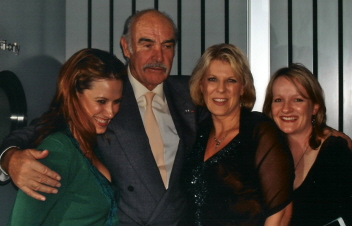 L-R; Ang, Sean Connery, Jacqueline Dark and Phoebe, 2005