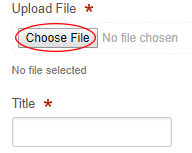 Upload field with Browse button highlighted
