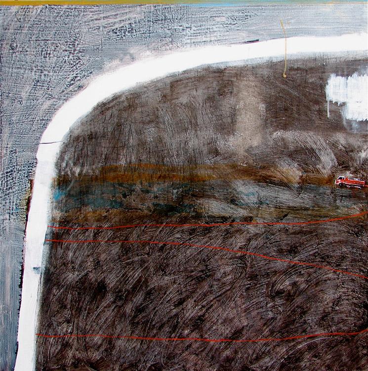 Tarli Glover 'Black Paddock', 2012 acrylic on canvas courtesy the artist