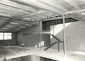 L.F.J.Hillman Recreation Building Interior under construction, c1984