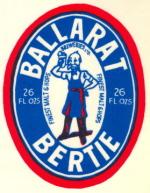 Ballarat Brewery label featuring Ballarat Bertie