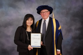 Yvonne Lo with the Chancellor