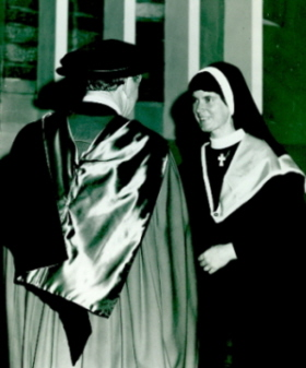 Sr Therese Power graduates (Cat.No.4240)