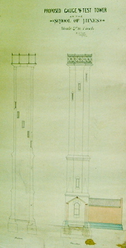 Caselli's Plan for the SMB Gauge Tower, 1880. (Cat.No.6199)