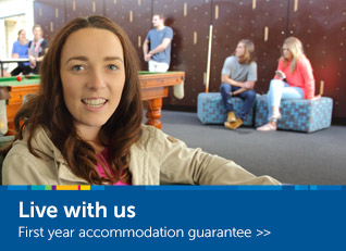 Live with us - first year accommodation guarantee