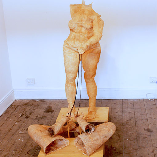 Honours student Kristy Nardella's sculpture 'Awakening from Domination' 2015
