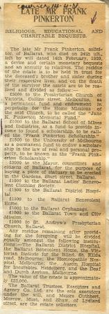Frank Pinkerton's obituary