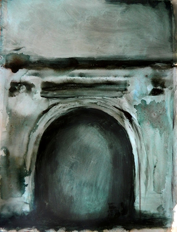 Noirin Wojciechowski, Sough, 2014 watercolour on paper