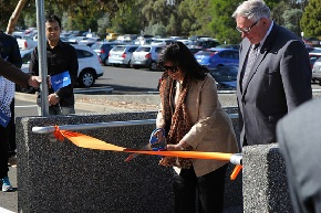 Mazumdar Drive ribbon cutting photo