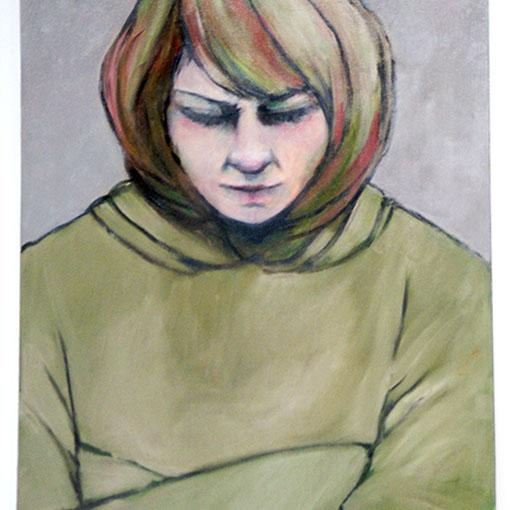 Honours student Hons Nóirín Wojciechowski's oil painting 'Marian' 2012
