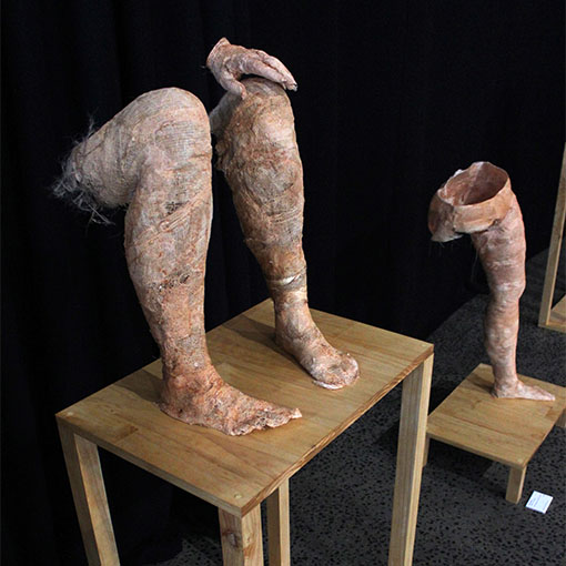 Honours student Kristy Nardella's sculpture 'Transformation' 2015
