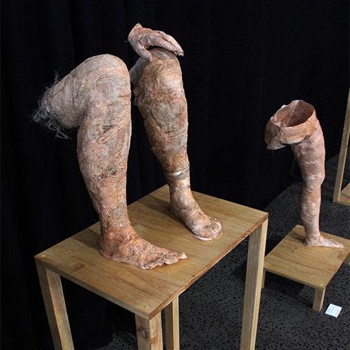 Honours student Kristy Nardella's sculpture 'Transformation' 2015
