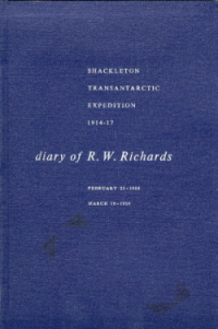 Cover of the Diary of R.W. Richards(Cat.No.0911)