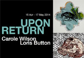 Top right: Carole Wilson Roman Bird 3, 2012 - 2013. Bottom right: Loris Button Small Vanitas in Nine Parts, 2012