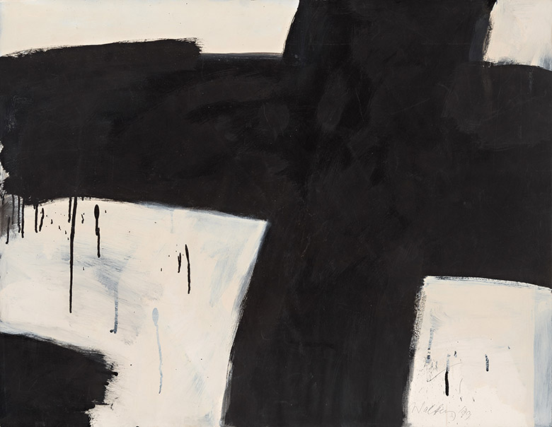 Wes Walters 'Black Cross', 1999 Ink on paper 75 x 97cm Photo: Jeremy Dillon Courtesy the artist