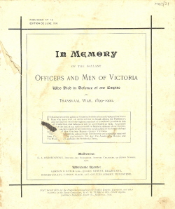 Cover of a Boer War Book