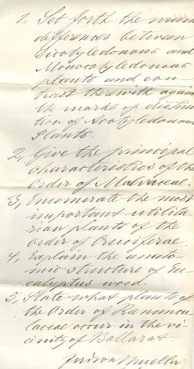 Handwritten July Term 1882 Examination Paper (Cat.No.504)