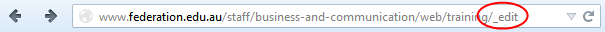Add /edit to end of URL