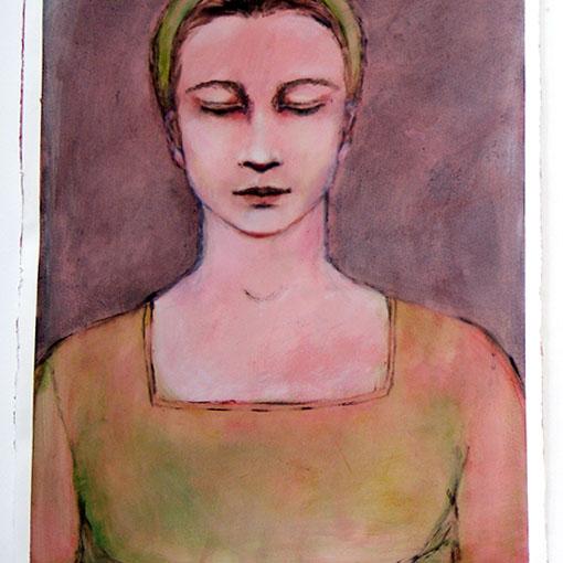 Honours student Hons Nóirín Wojciechowski's oil painting 'Martina' 2012