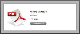 Example PDF download dialogue box