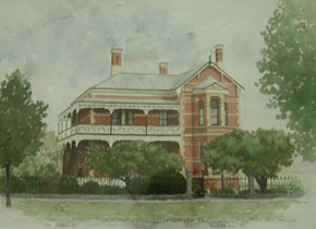130 Victoria Street, watercolour by Paul McKinnon