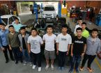 Chinese automotive students training at SMB Campus