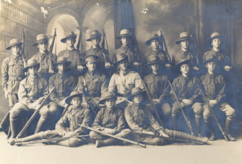Ballarat Junior technical School Cadets, 1918. (Cat. No. 202)