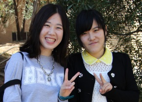Image of two international students