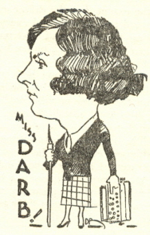 Caricature of Miss Darby