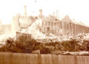 The old Gaol site under demolition