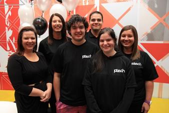 Staff at P-TECH launch