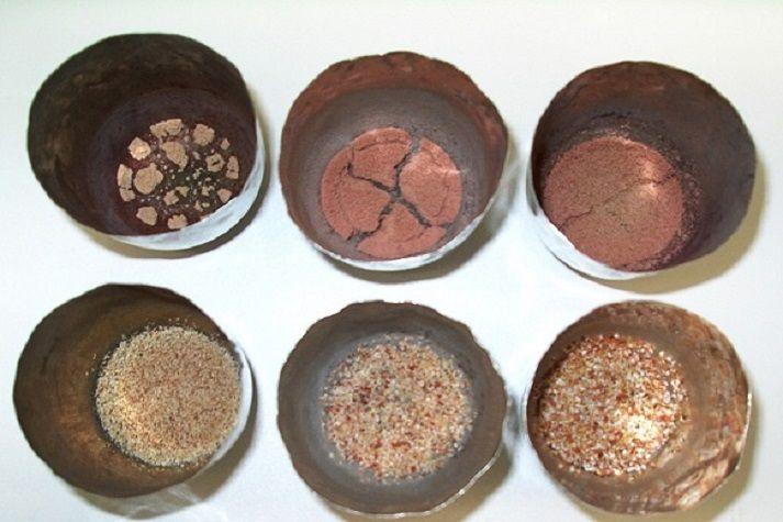 Brown coal ash samples