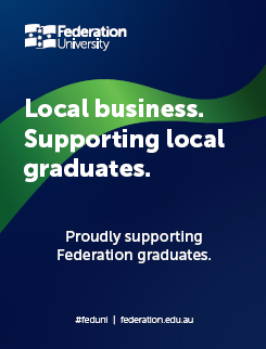 Supporting local graduates poster