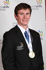 Tim Taylor 2013 Gold Medal Winner. Automotive Mechanical. WorldSkills Sydney