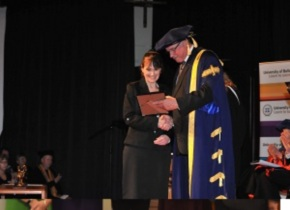 Julie Williams and Chancellor