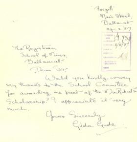 Gilda Gude Correspondence