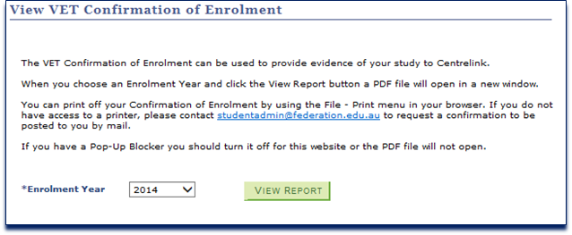 how to get a confirmation of enrollment australia