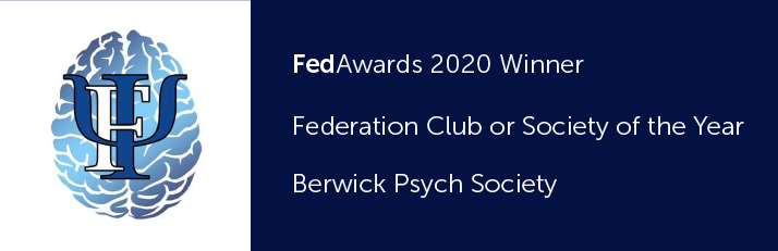 FedAwards 2020 winner. Federation Club or Society of the year. Berwick Psych Society