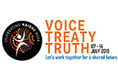 Celebrating NAIDOC Week. Voice, Treaty, Truth, Let's work together for a shared future. 07-14 July 2019